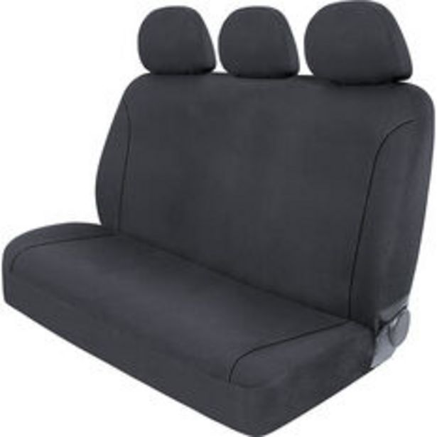 SCA Canvas Seat Covers - Charcoal/Grey Adjustable Headrests Size 06H Rear Seat offer at $79.99